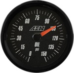 AEM Analog Oil Pressure Display Gauge (0-150psi) - Black Face