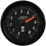 AEM Analog Oil Pressure Display Gauge (0-10.2BAR) - Black Face