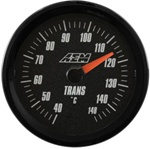 AEM Analog Transmission Temperature Display Gauge (40°C to 148°C) - Black Face
