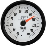 AEM Analog Transmission Temperature Display Gauge (40°C to 148°C) - White Face