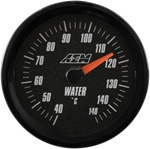 AEM Analog Coolant/Water Temperature Display Gauge (40°C to 148°C) - Black Face