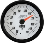 AEM Analog Coolant/Water Temperature Display Gauge (40°C to 148°C) - White Face