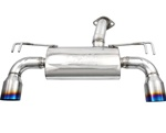 "Injen 76mm Axleback Exhaust System w/ 4.5"" Titanium Tip for the 2008-2009 Mitsubishi Lancer Evolution X with the 2.0-liter, 4B11T engine"