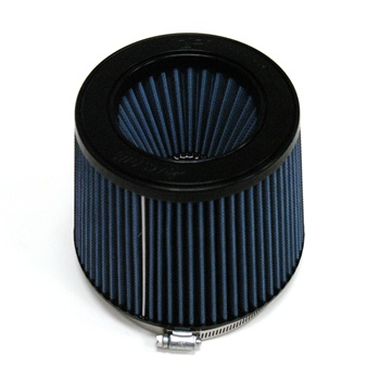 "Injen/AMSOIL Ea Nanofiber Dry Air Filter - 5.00"" flange diameter  6.50"" Base / 5.00"" Tall / 5.25"" inverted cone top - 70 pleat"