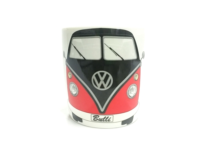 COFFEE MUG-BLACK/RED VW TA07