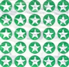 Large Green Star Dazzlers - 50/pk