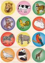 Animal Stickers - 12/sheet - 10 pack