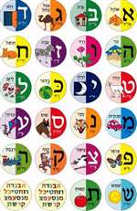 Aleph Bet Ohel Stickers - 24/sheet - 10 pack