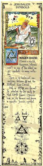 Jerusalem Symbols Bookmark - Magen David