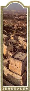 Gilded Edge Bookmark - Jerusalem Millennium 2000