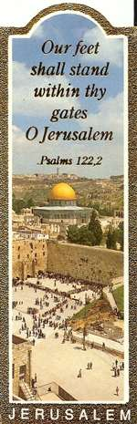 Gilded Edge Bookmark - Jerusalem wtih Psalm 122,2