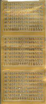 Aleph Bet - Block - Gold - 1/4 in. - 500 letters