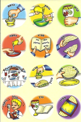 Order of the seder stickers