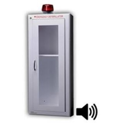Tall AED Wall Cabinet with Alarm & Strobe