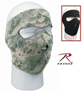 Reversible Neoprene Face Mask - Black / ACU Digital