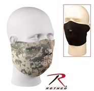 Reversible Neoprene Half Face Mask - Black / ACU Digital