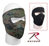 Reversible Neoprene Face Mask - Black to Woodland Digital / Marpat