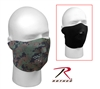 Reversible Neoprene Half Face Mask - Black to Woodland Digital / Marpat
