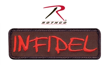 """Infidel"" Airsoft Patch w Velcro Back"