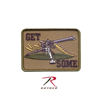 """Get Some"" Machine Gun Patch - Velcro Back with Velcro Back"