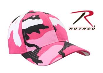 Rothco Supreme Low Profile Adjustable Cap - Pink Camo