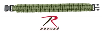 Rothco Paracord Bracelet  - Plastic Buckle - OD Green