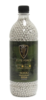 .25g Umarex Elite Force Match Grade Airsoft BBs - 5000ct Bottle - White