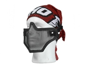 BRAVO Tac Gear V2 Strike Metal Mesh Mask - Black