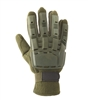 V-Tac Full Finger Armored Back Airsoft Gloves – OD Green