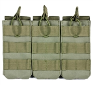 NcSTAR Vism MOLLE M4/AR Triple Magazine Pouch - OD Green