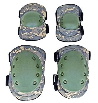 Deluxe Tactical Elbow and Knee Pad Set | ACU Digital