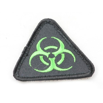 ZOMBIE Symbol Airsoft Vest Patch w/ Velcro Back 2.25""