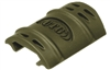 Rubber Rail Guard Cover with Flexible Adjustment - 12pcs - OD Green