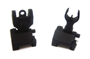 Airsoft AEG Folding Battle Iron Sight Set - Front and Rear