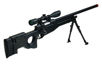 UTG AccuShot Competition Shadow Ops Bolt Action L96 Airsoft Sniper Rifle - Black