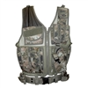 Fidragon Tactical Vest w/ Cross Draw Pistol Holster - Med to XL Size - Woodland Digital / Marpat