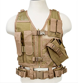 NcStar Children Size Tactical Vest – Tan Color