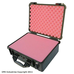 Pelican 1550 carrying case with solid Pink Anti-Static foam