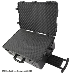 Pelican Case 1650 with Pre-Scored closed cell Polyethylene Foam.