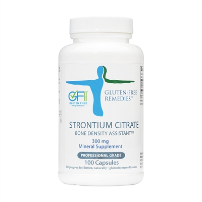 gluten free remedies strontium citrate product bottle