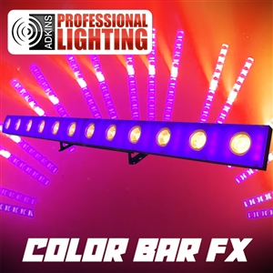 Color Bar FX Up Light and Effects All-in-One 3 Watt x 12 Cree Warm White and SMD5050 LEDs  x 72