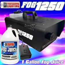 1250 Watt Fog Machine -1 Gallon Fog Juice and Remote
