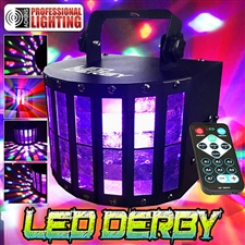 LED Derby DJ Light with Remote Control