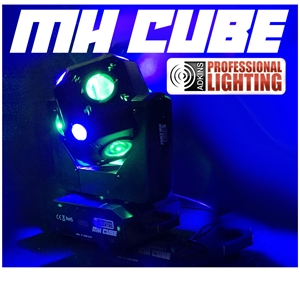 LED DJ Light - MH-CUBE - Moving Head Cube - Adkins Professional Lighting