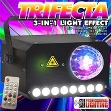 Adkins Lighting TRIFECTA MoonFlower - Laser - Strobe Combo