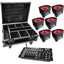 6 Piece EZ Par Hex6 Road Case System