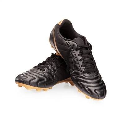 Black and Gold Football Cleat