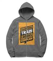 Gray Front Pockets Hoodie