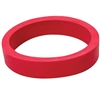 "Flipper Rubber 1 1/2"" x 1/2"" RED"