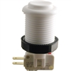 Happ Pushbutton W / Horizontal Micro-Switch - White
